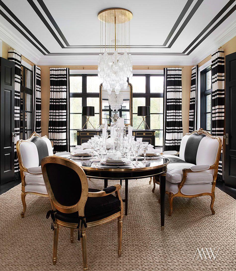 Designer Spotlight Megan Winters Black White Dining Room