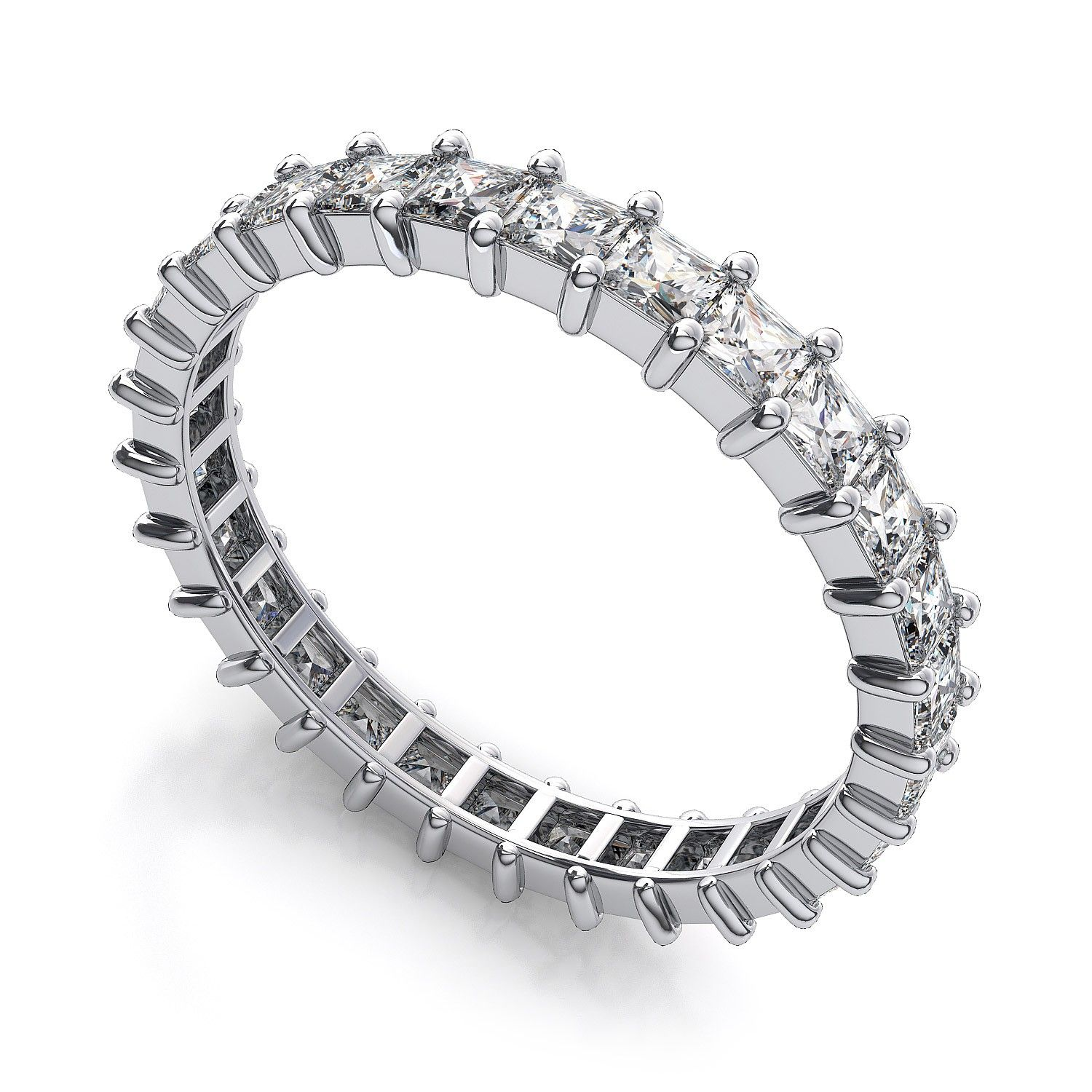 platinum eternity diamond bands set wedding ring band full de channel beers