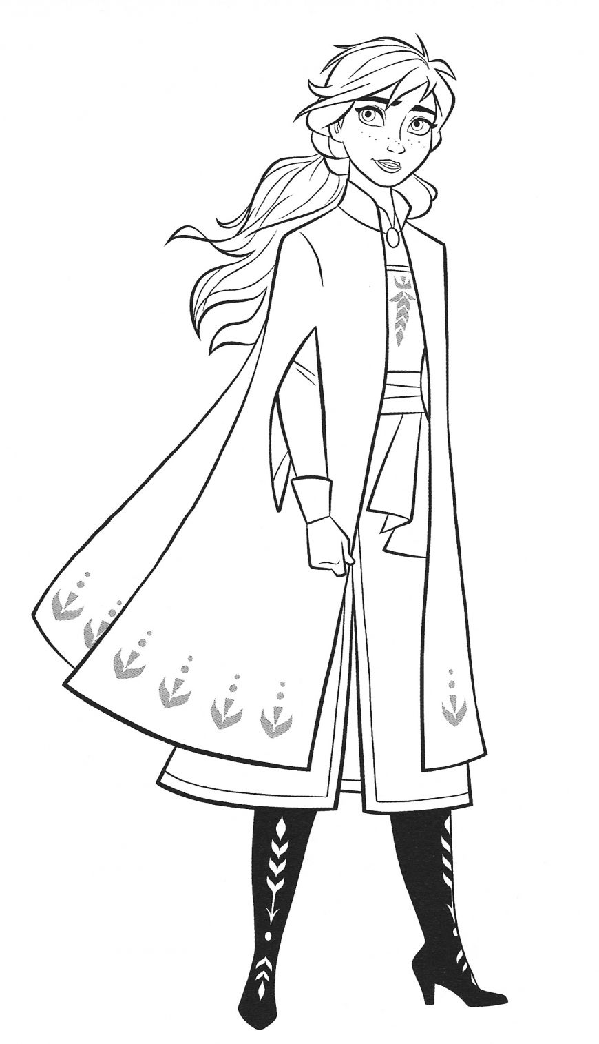 New Frozen 2 Coloring Pages With Anna In 2020