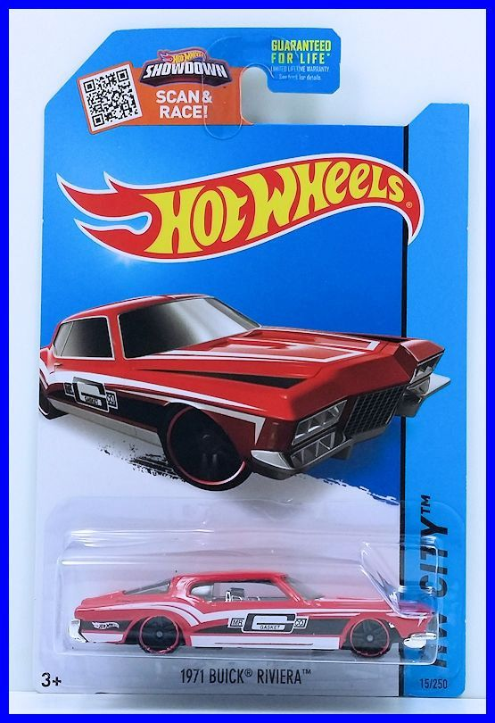Hot Wheels 2015 Collector 015 250 Hw City Hw Performance 1971 Buick Riviera Red Usa Card Hot Wheels Toys Hot Wheels Buick Riviera