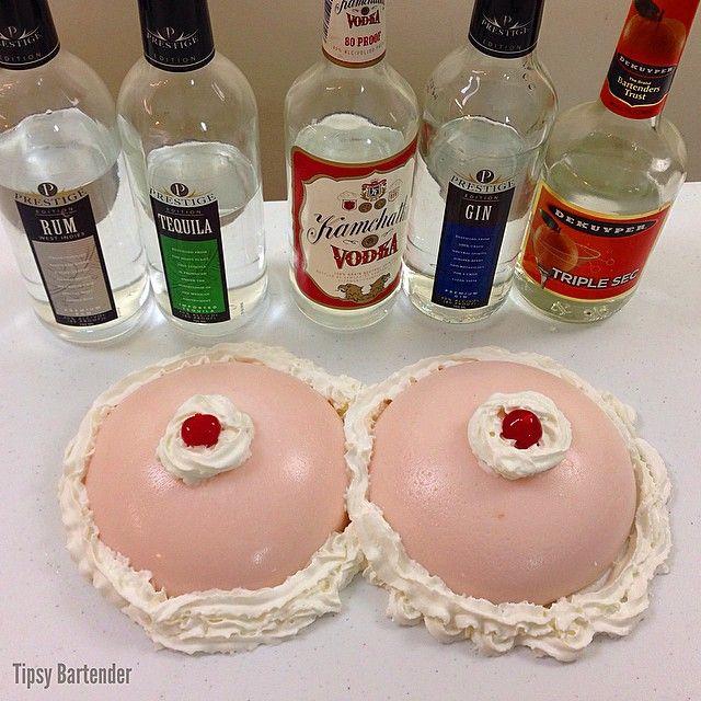 Boob liquor shots