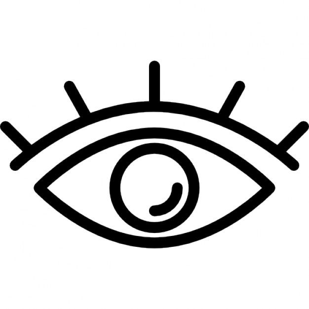 Download Eye Outline With Lashes For Free Eye Outline Eye Symbol Optical Illusion Tattoo