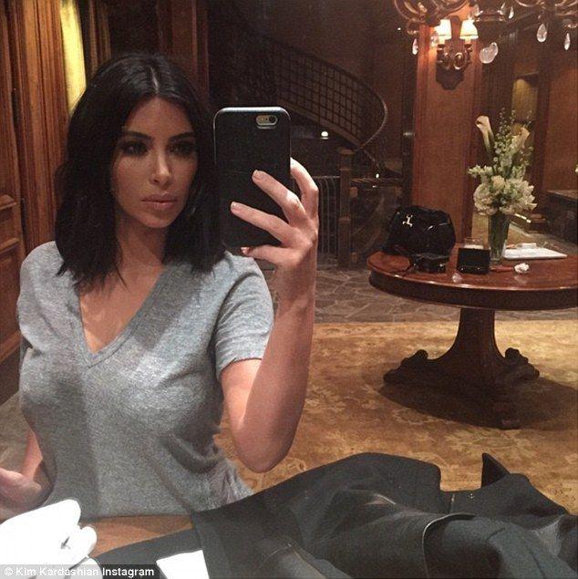 Kim Kardashian shares sultry selfie | Kardashian, Instagram and Hair ...