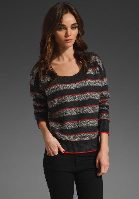 SPLENDID - Fair Isle Boatneck Sweater | cozy and warm | Pinterest