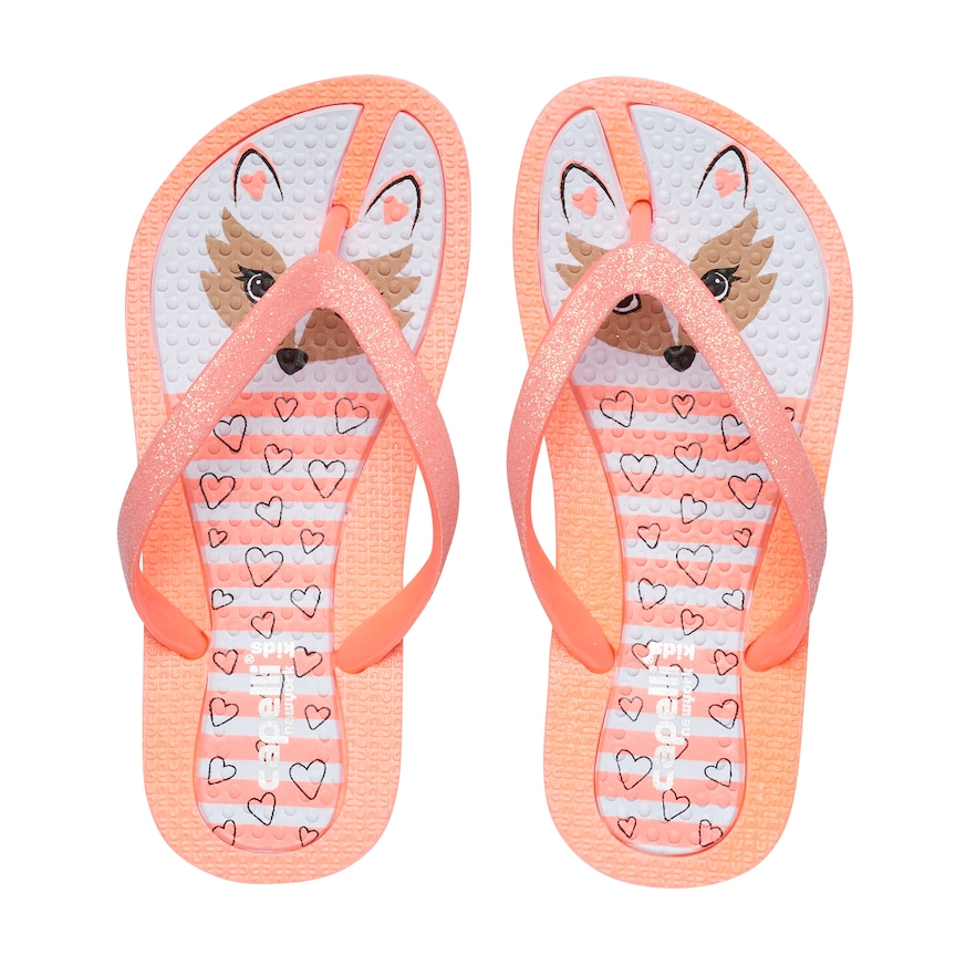 7d8dd7d5f988 Girls 4-16 Fox Glitter Thong Flip Flop Sandals