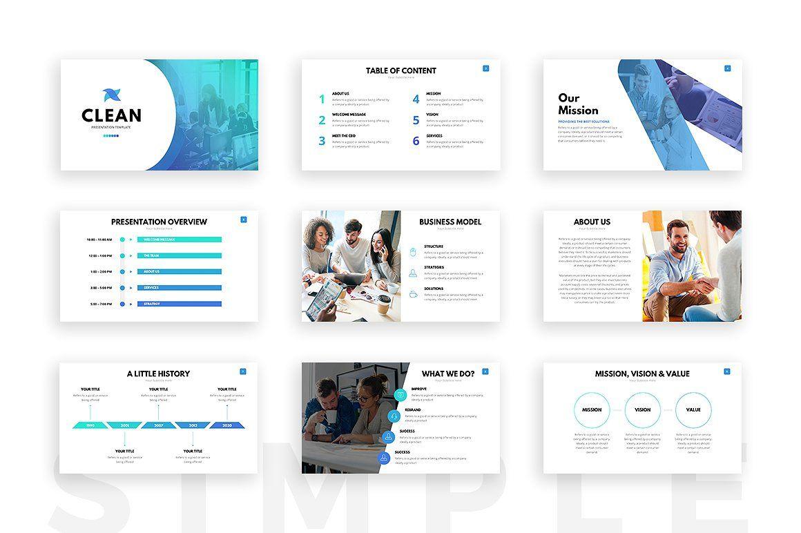 Clean Powerpoint Template | Pinterest