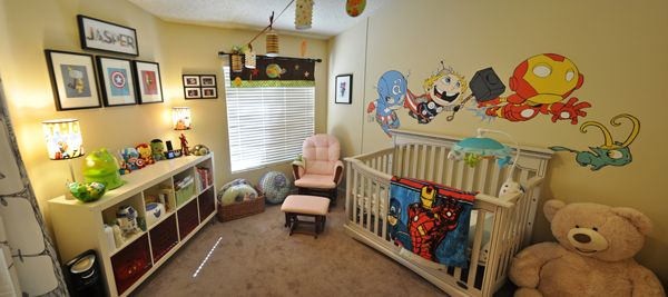 You might not be able to handle this adorable marvel themed nursery