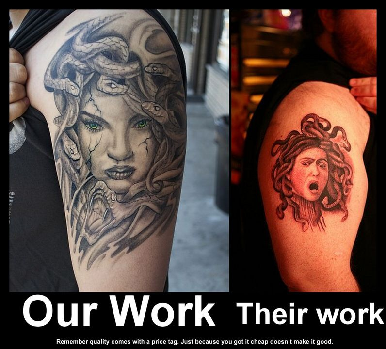 Cheap tattoos are not good tattoos bad ink is just bad