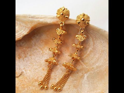 Goldshine Treasure For Generations 22k Solid Yellow Gold Drop Dangle Earrings Youtube Gold Bridal Earrings Gold Necklace Designs Gold Earrings Designs