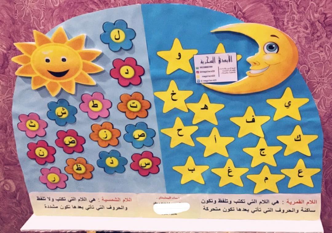 اللام الشمسية اللام القمرية اللام الشمسية والقمرية متجر الأيدي السحرية لصنع الدمى والخداديات والوسائل التعليم Art For Kids Disney Wallpaper Crafts For Kids