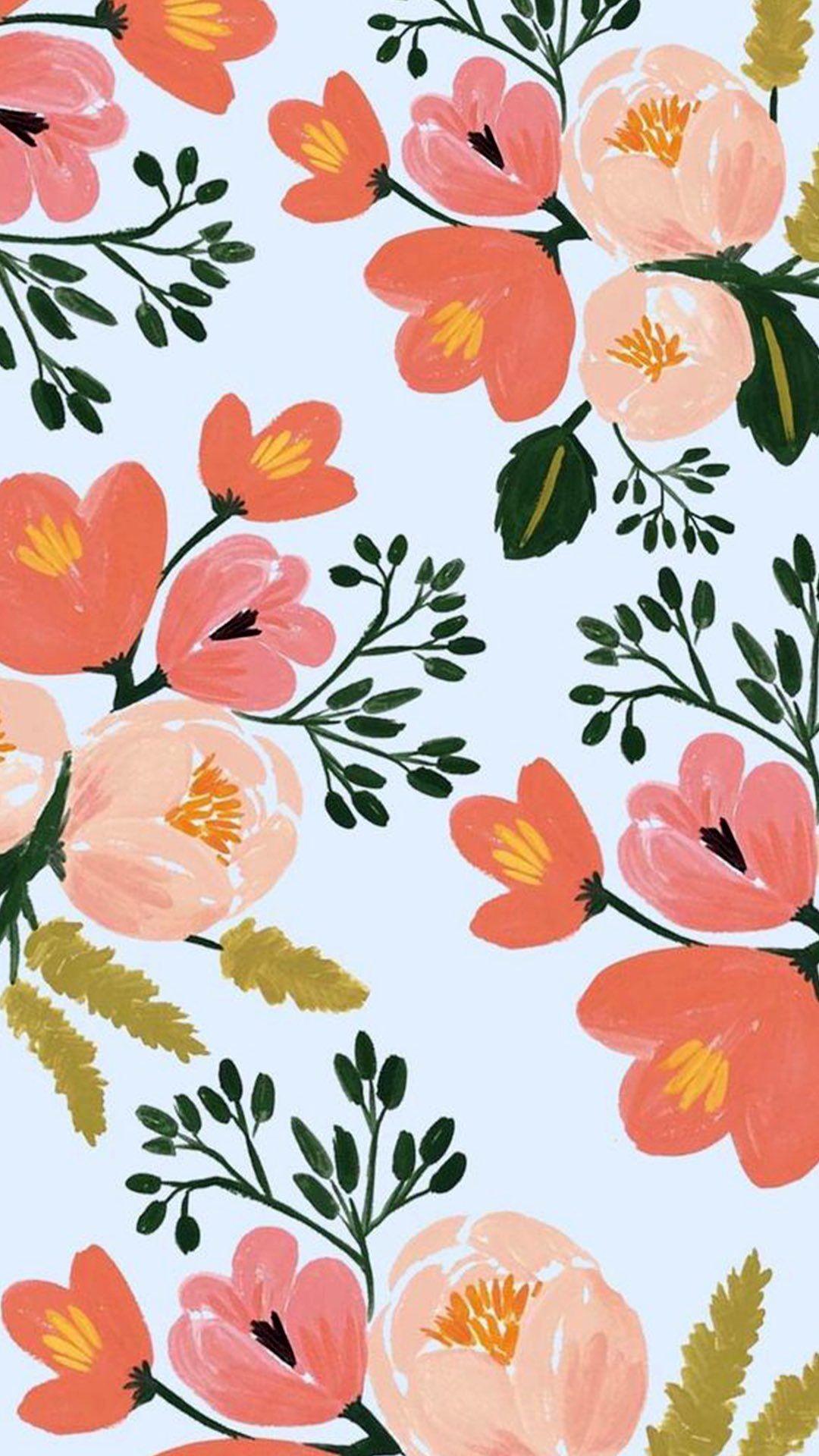 Floral Wallpaper Floral Wallpaper Iphone Tumblr Iphone