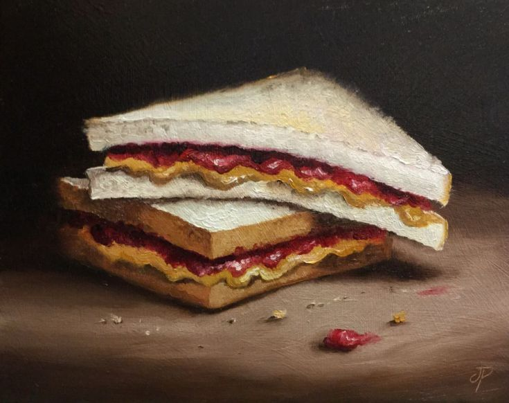 Buy PB&J Sandwich, Oil painting by Jane Palmer on Artfinder. Discover thousands of other original paintings, prints, sculptures and photography from independent artists.
