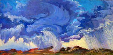 "Saatchi Art Artist MaryAnn Ead; Painting, ""Indigo Phoenix"" #art"
