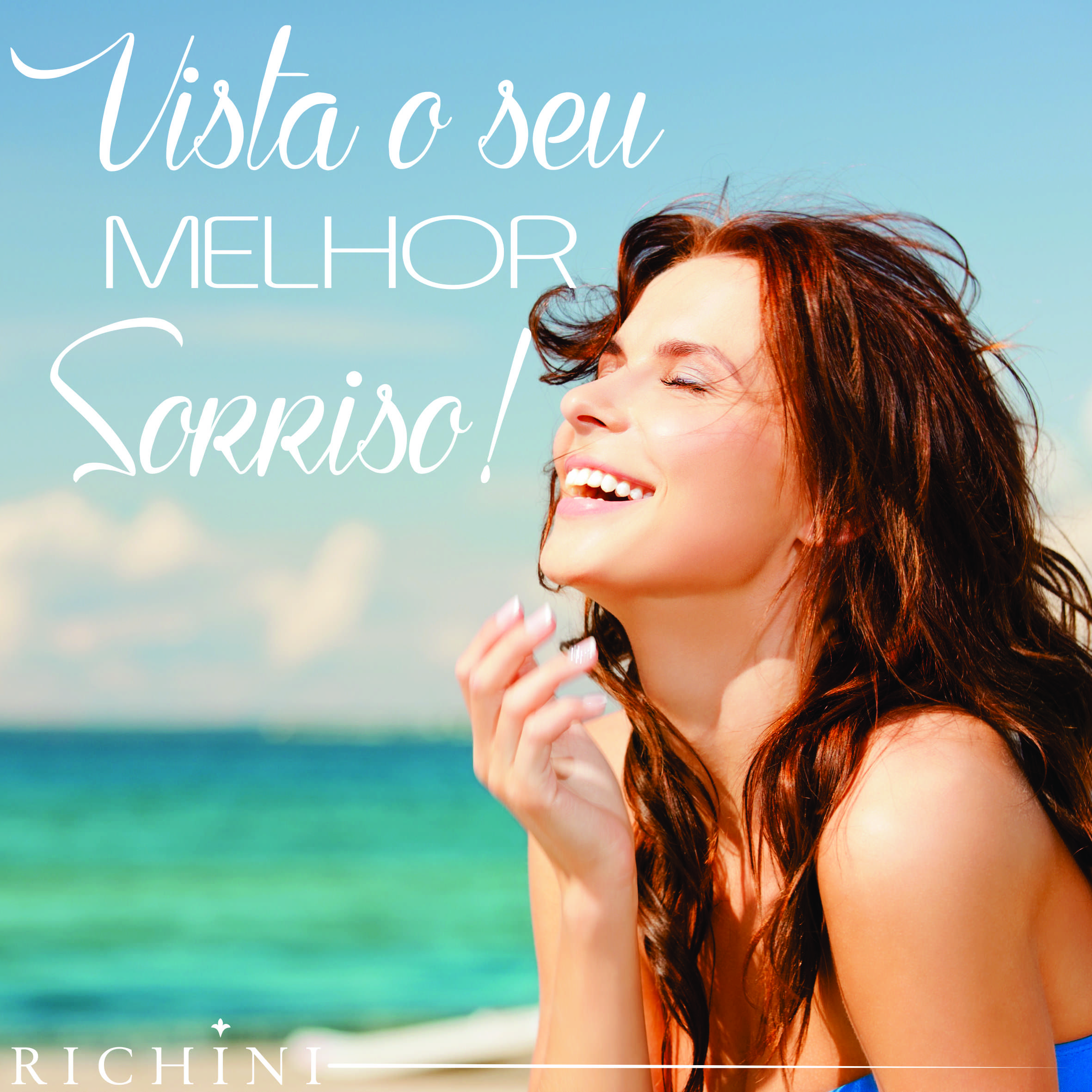 Vista o seu melhor sorriso! #inspirarichini #quotes #goodmorning #phrases #daybyday #morning #inspiration
