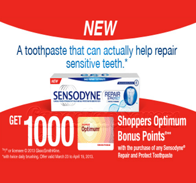 Shoppers Drug Mart Coupon Get 1 000 Pts Wub Sensodyne Printable Coupons