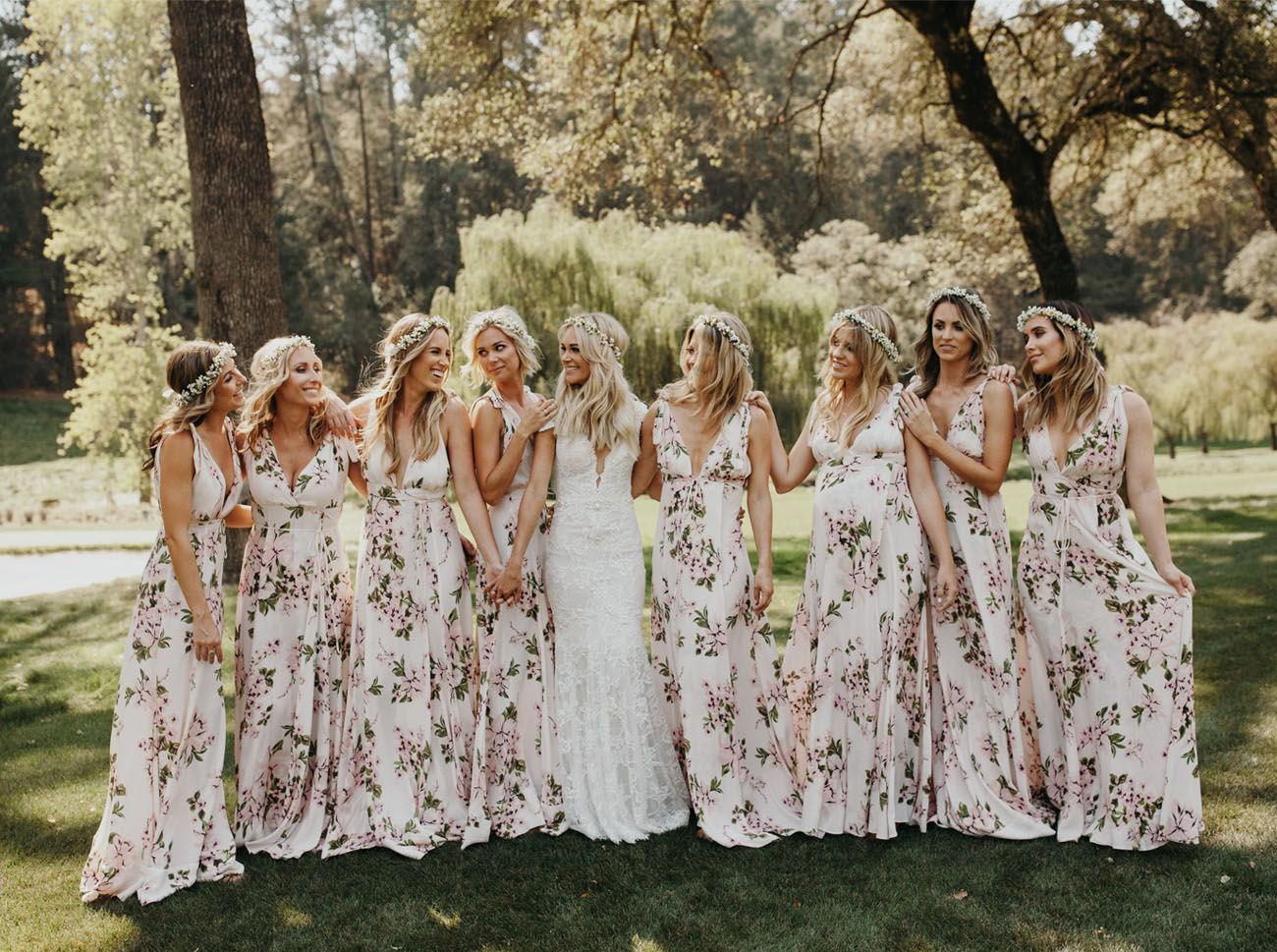Beach riot founders napa farm wedding floral bridesmaid dresses floral bridesmaid dresses ombrellifo Choice Image