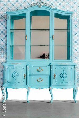 Resultado de imagen de muebles antiguos pintados muebles - Muebles antiguos pintados ...