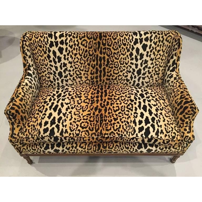 Mid-Century Leopard Print Sofa in 2019 | Printed sofa, Mid ...