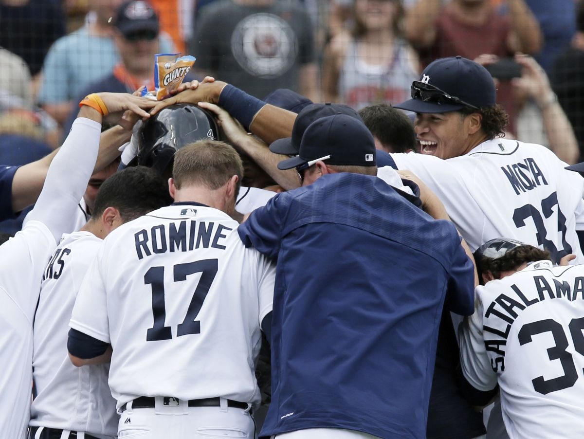 Video Tigers win on a walkoff wild pitch, sweep the