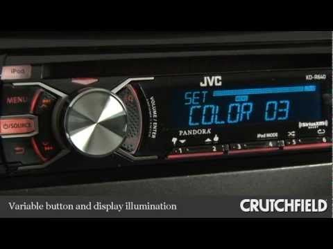 JVC KD-R640 CD Receiver Display and Controls Demo