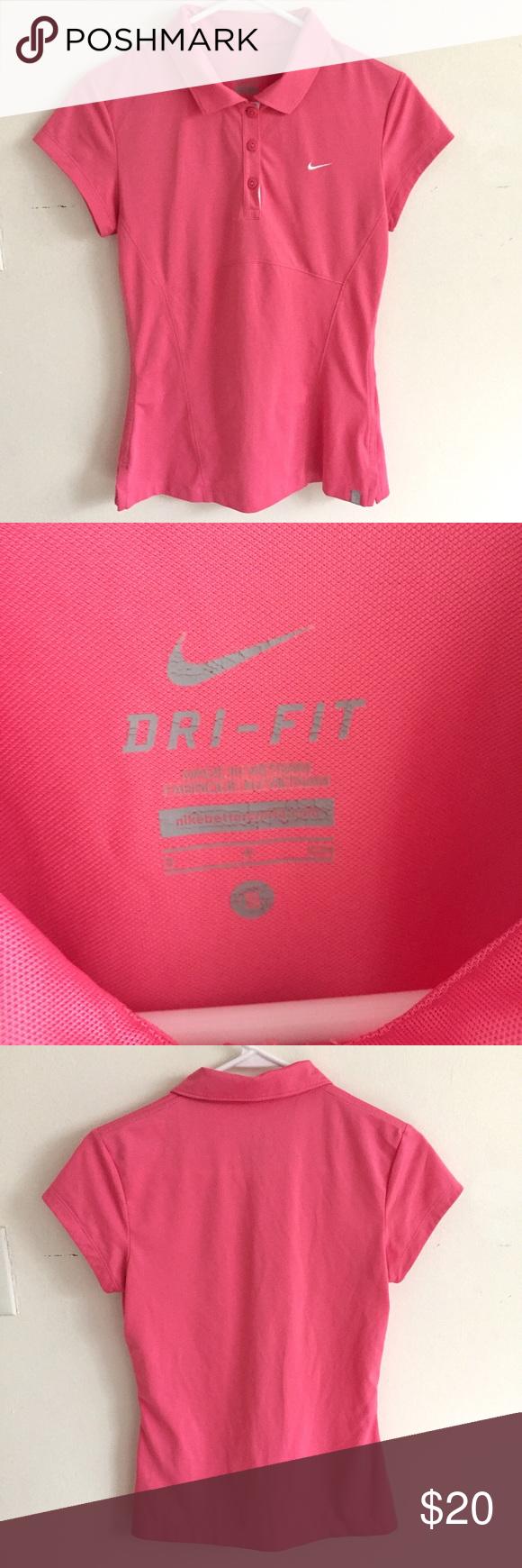 Nike dri fit pink polo size small Nike dri fit pink polo size small Nike Tops