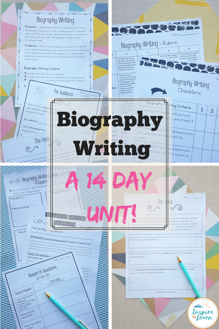 biography lesson plans elementary