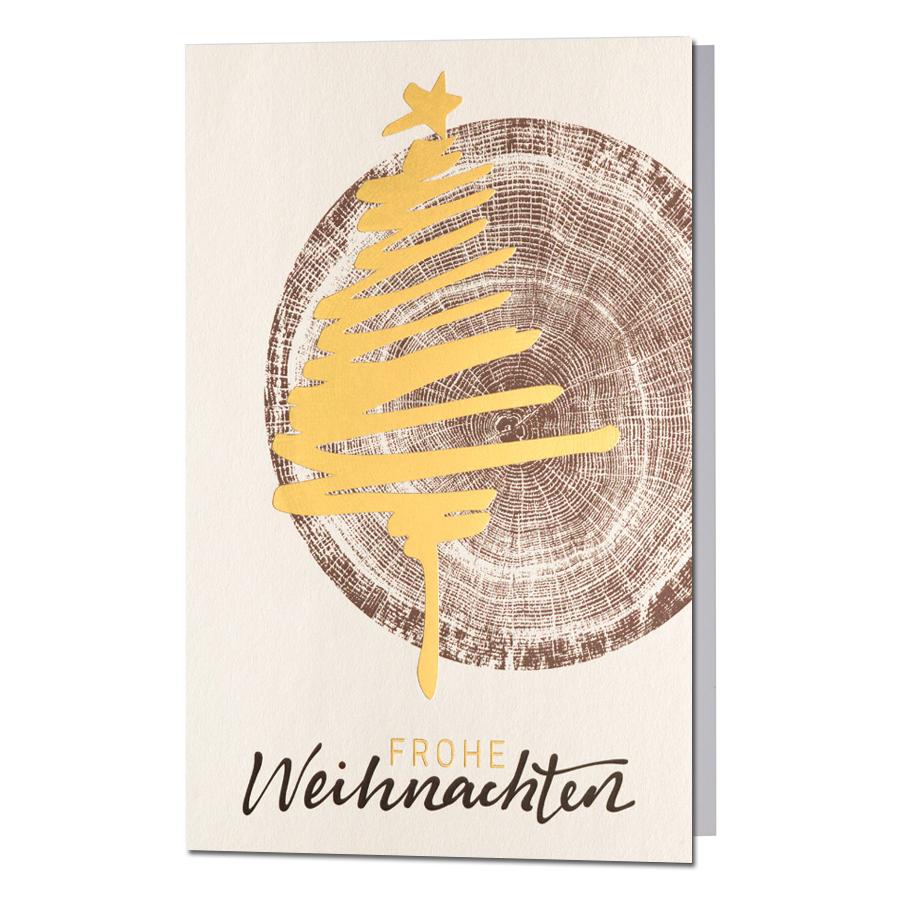 Ausgefallene Weihnachtskarten Holz Eine Trendige