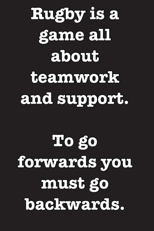 Teamwork Rugby Quotes Rugby Coaching Rugby Memes