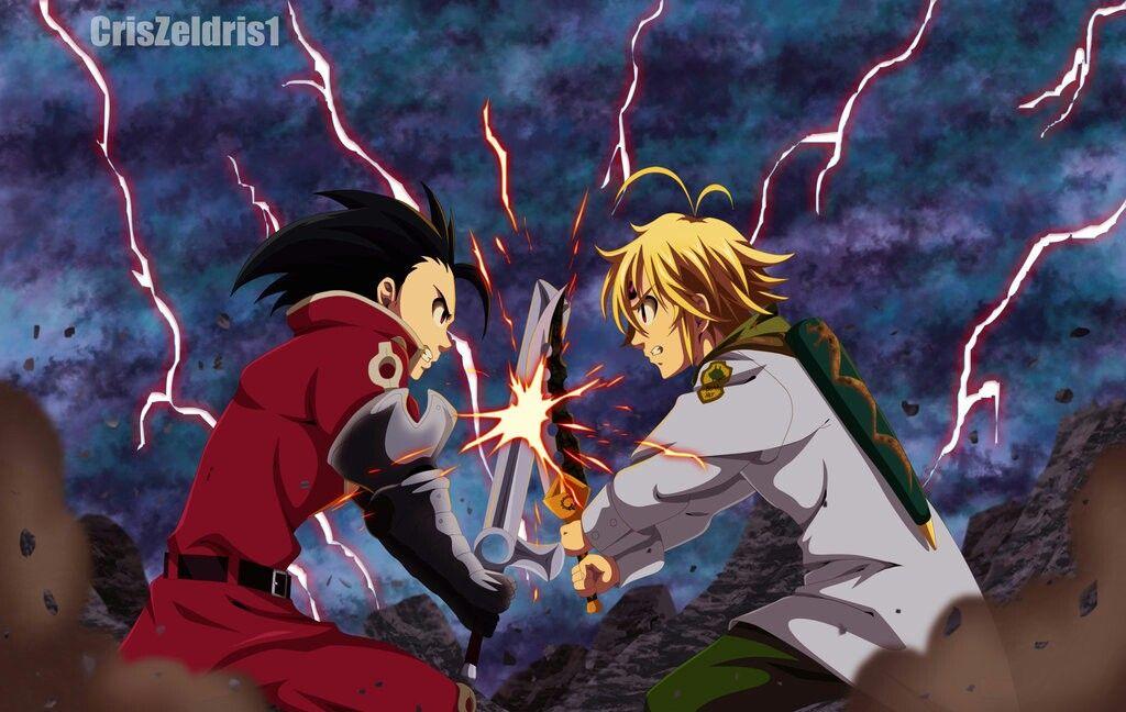 Meliodas V Zeldris Arte de anime, Nantsu no taizai y Anime