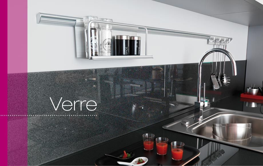 Cr dence verre lapeyre coloris blanc alpin disponible - Plan de travail cuisine lapeyre ...