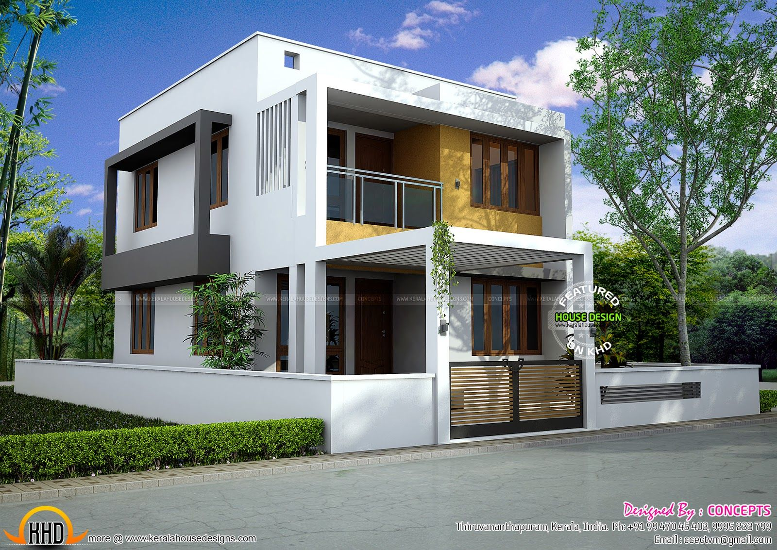 square feet modern kerala home square feet bedroom contemporary