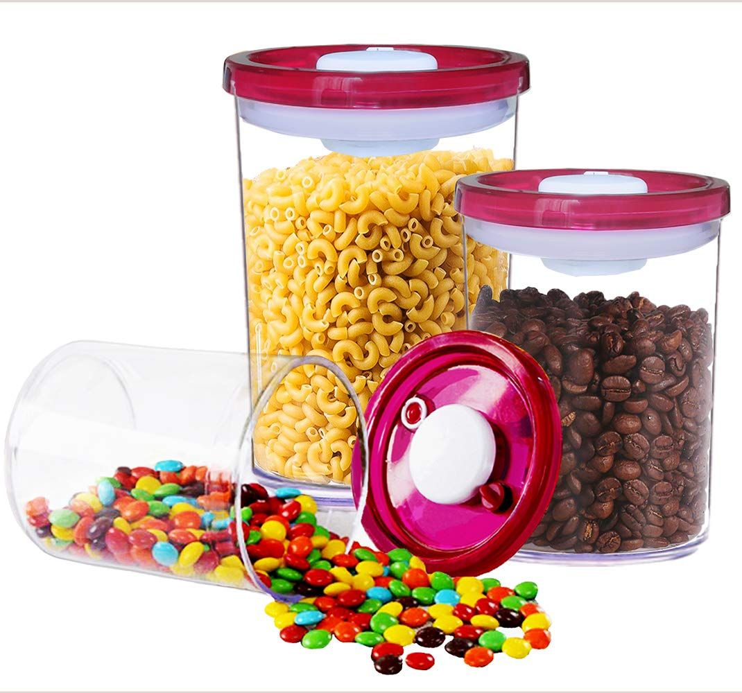 This Vacuum Sealed Container Set Is Perfectly Suited To Store Common Staple Foods Suc In 2020 Airtight Food Storage Containers Food Storage Container Set