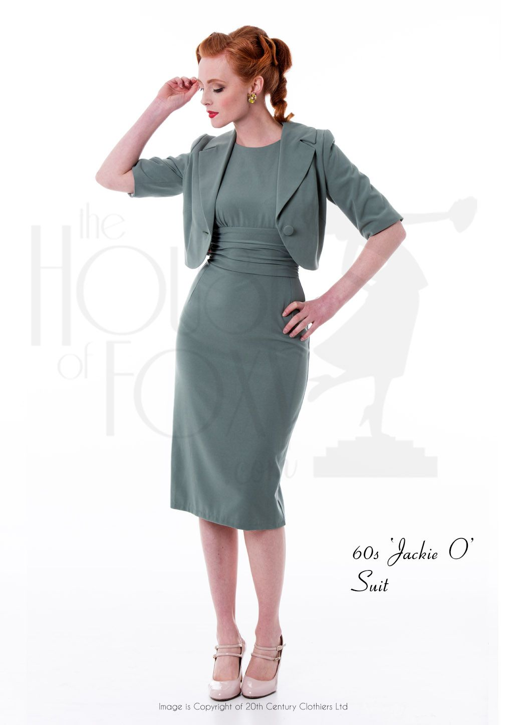 Early s inspired ujackie ou ensemble a shift dress style with