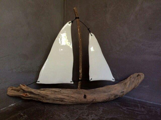 bateau c ramique et bois flott keramik pinterest keramik bastelideen und basteln. Black Bedroom Furniture Sets. Home Design Ideas