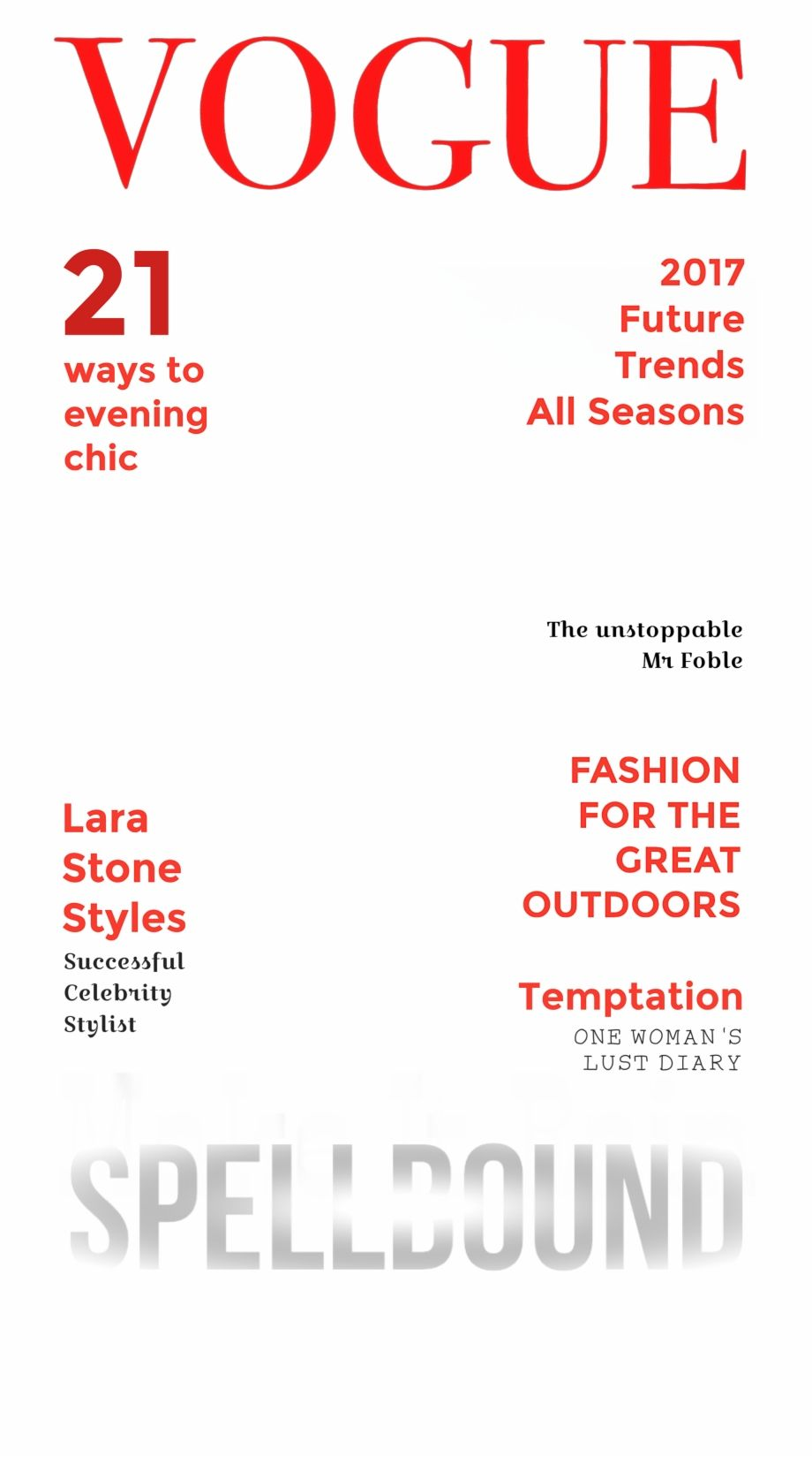 Vogue Glamour Issue Fake Magazine Cover Template Magazine Cover Template Fake Magazine Covers Vogue Magazine Covers