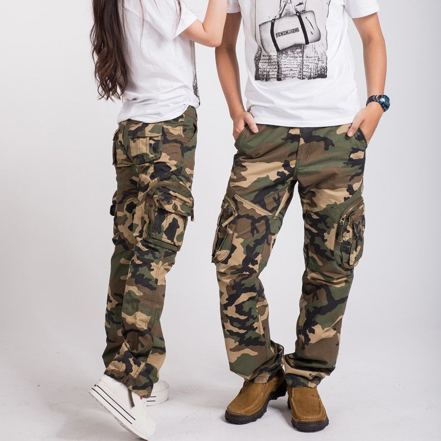 Excellent Womens Military Army Dance Loose Cargo Pocket Pants Leisure Trousers