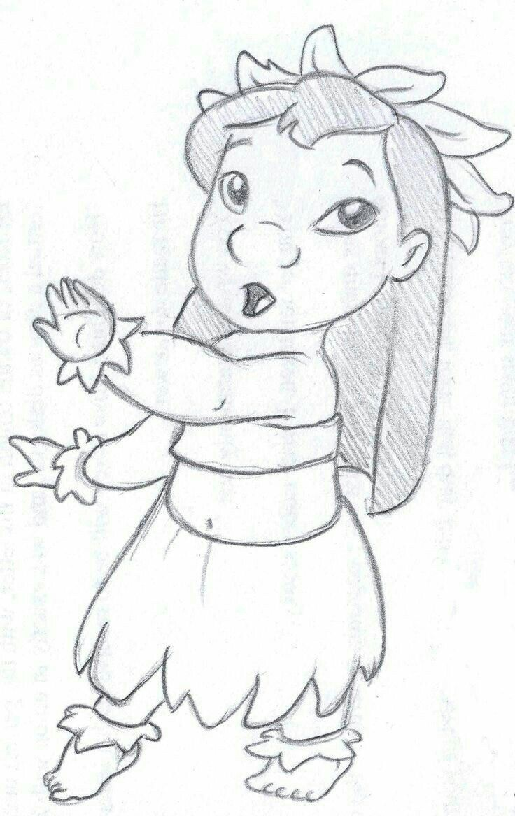 Desenho Lilo Stitch By - autor desconhecido  Dessins disney