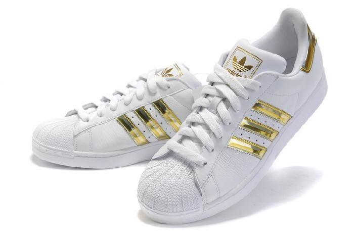 Tanie Adidas Originals Superstar 2 Casual Buty Do Biegania Złoto Biały  Leather Męskie Buty 265.69zł