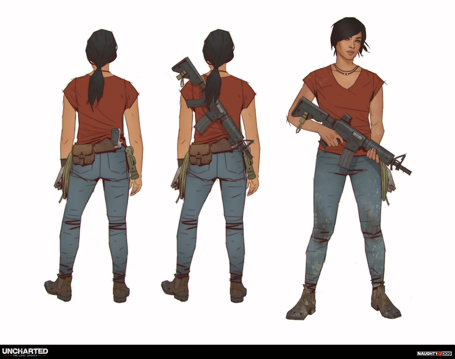 Uncharted - The Lost Legacy: Character Concept art - Chloe Frazer, Richard  Lyons