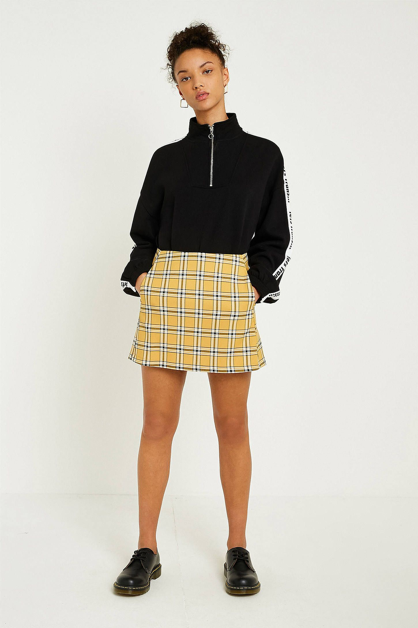 7d69146ea33f Shop UO Mustard Yellow Checked Pelmet Skirt at Urban Outfitters today. We  carry all the latest styles, colours and brands for you to choose from  right here.