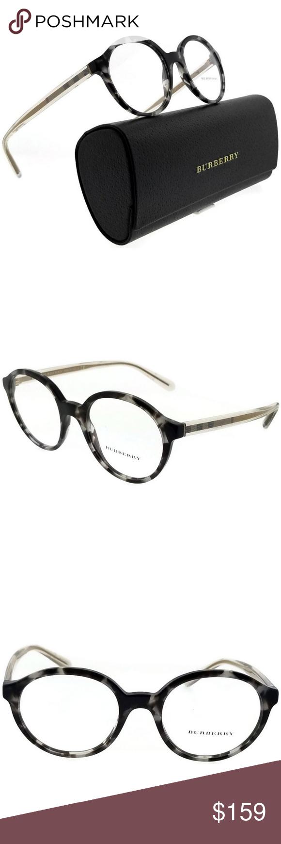 d56d74fd554b BURBERRY BE2254-3533-49 EYEGLASSES New gorgeous authentic Burberry  BE2254-3533-49 round women s havana frame clear lens 49mm eyeglass…