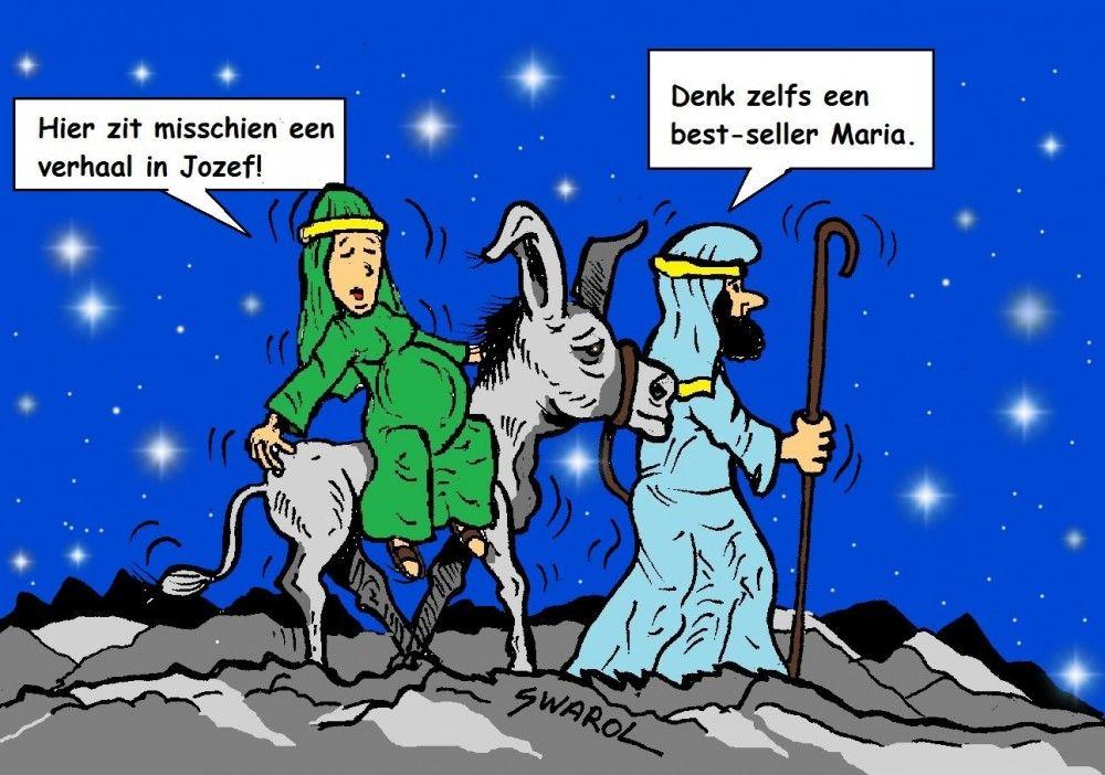 Kerstcartoon Boekenbijlage.nl