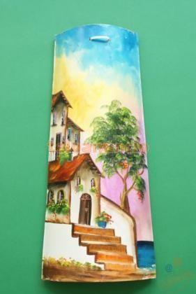 Tejas pintadas a mano decoraci n casa tejas for Pintura para tejas