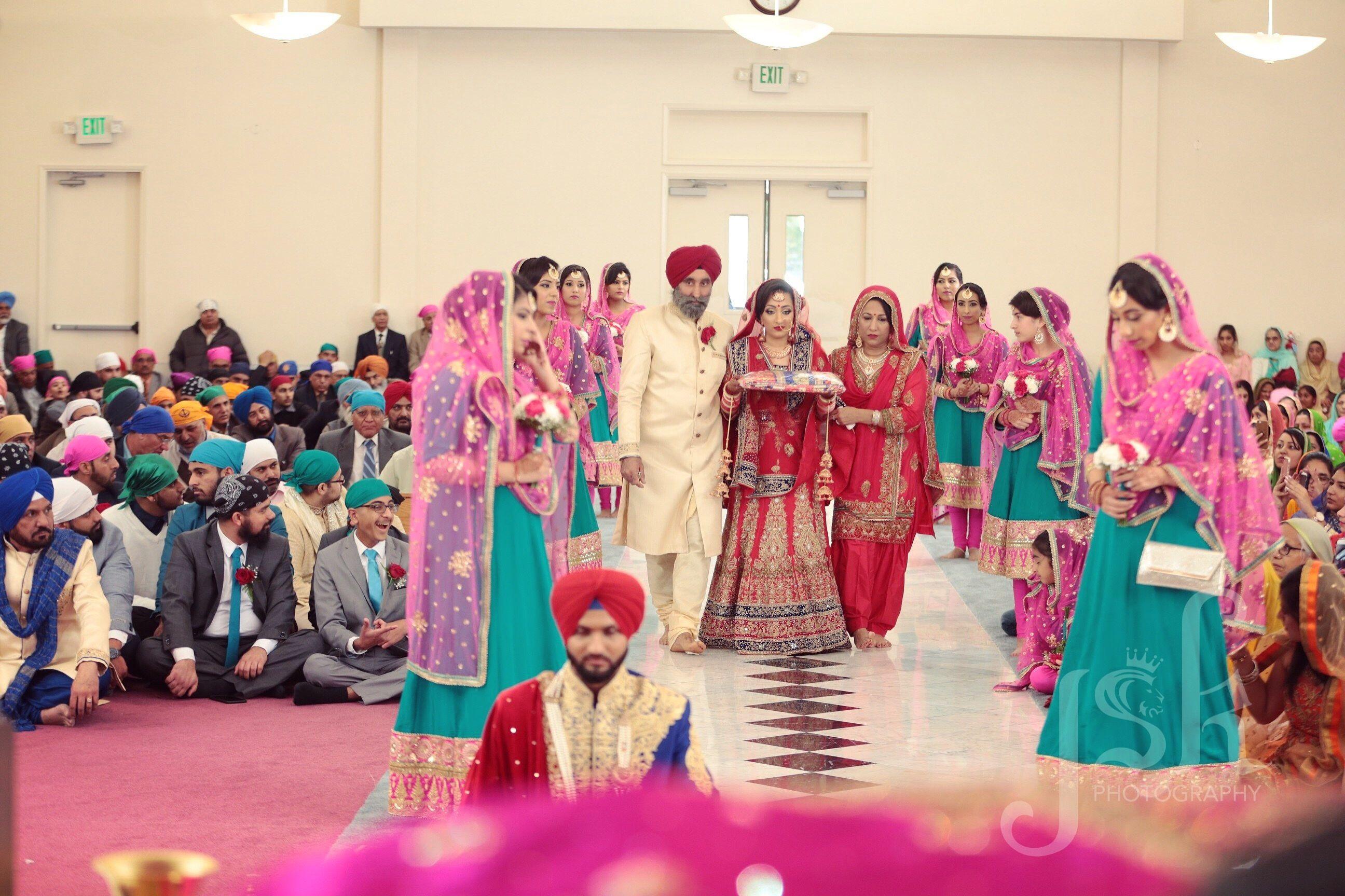 Indian wedding bride\'s grand entrance   JSK Indian Wedding ...
