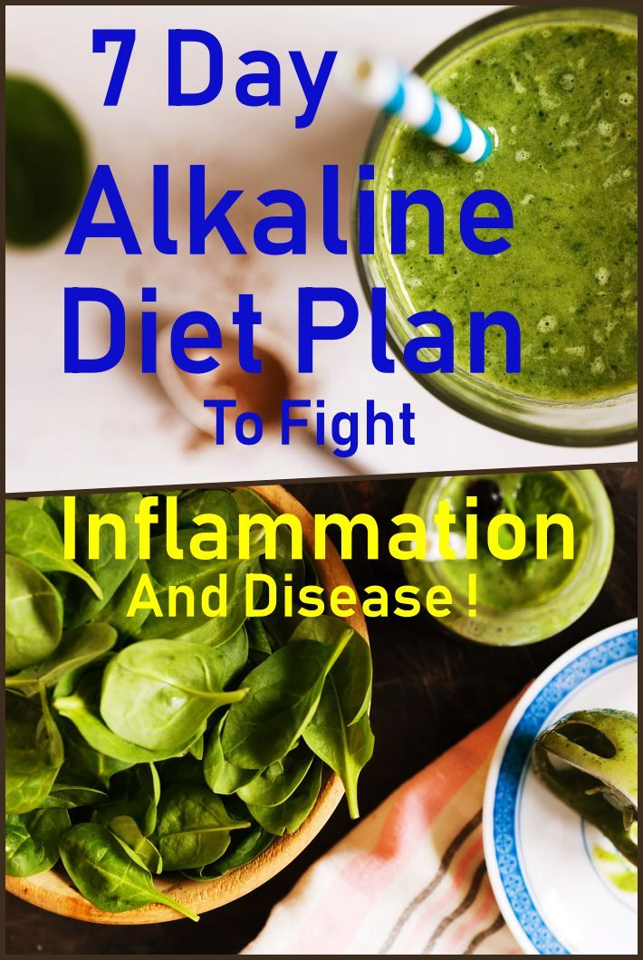 7 Day Alkaline Diet Plan To Fight Inflammation And Disease Alkaline diets are rich in alkaline foods to balance the pH levels in the body as modern diets are high in acid...