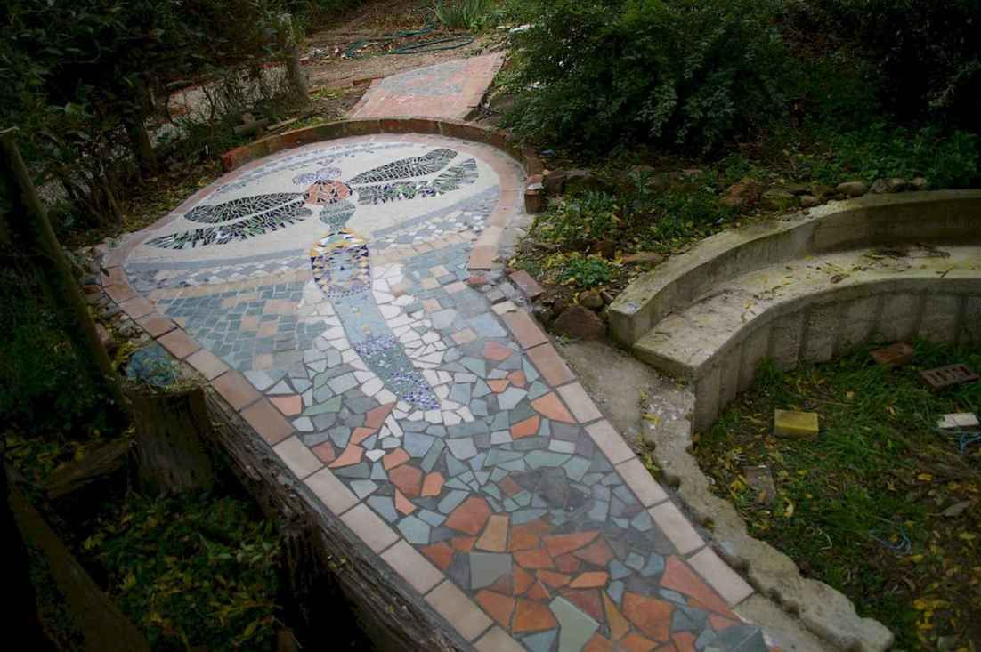 Photo of 14 Beautiful DIY Mosaic Garden Path Decorations For Your Landscape Inspiration – Insidexterior