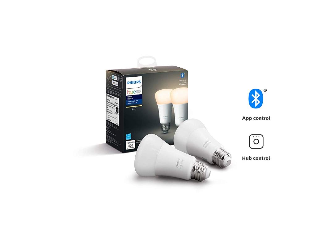 Philips Hue White A19 LED Smart Bulb, Bluetooth & Zigbee