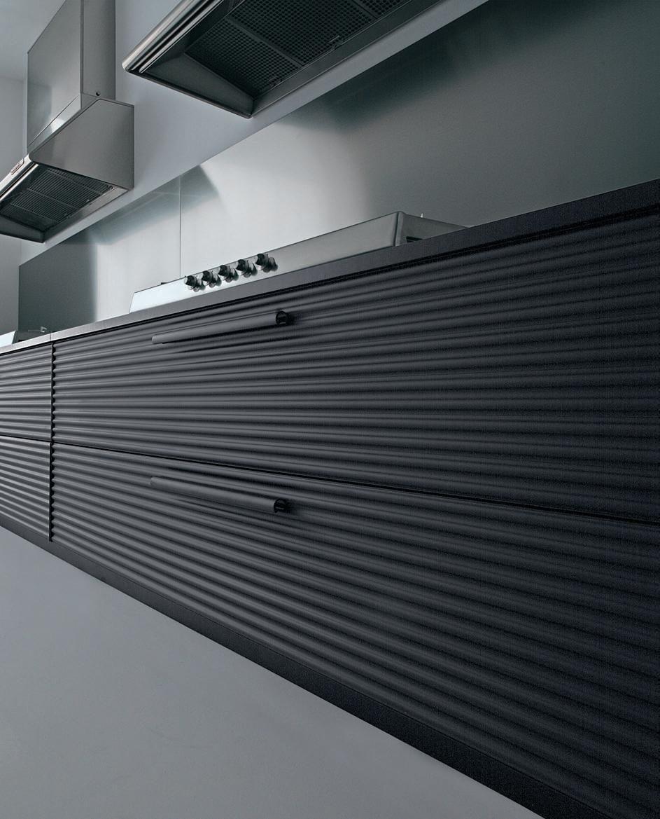 Anodized aluminum kitchen design inspiration