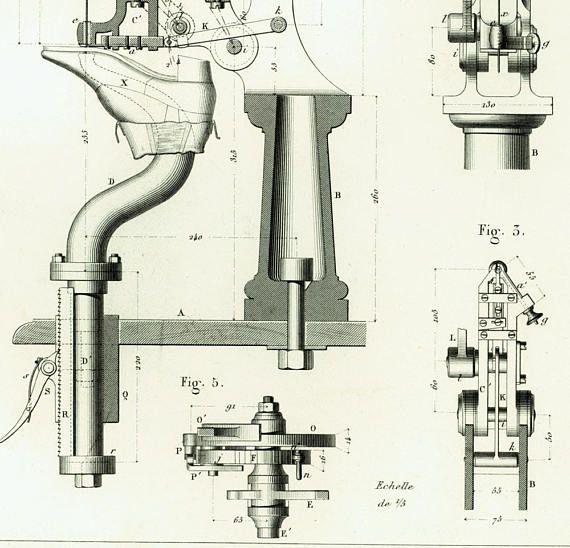 1874 Antique Shoes Manufacturing Patent Print Original Shoemaker - copy coffee grinder blueprint