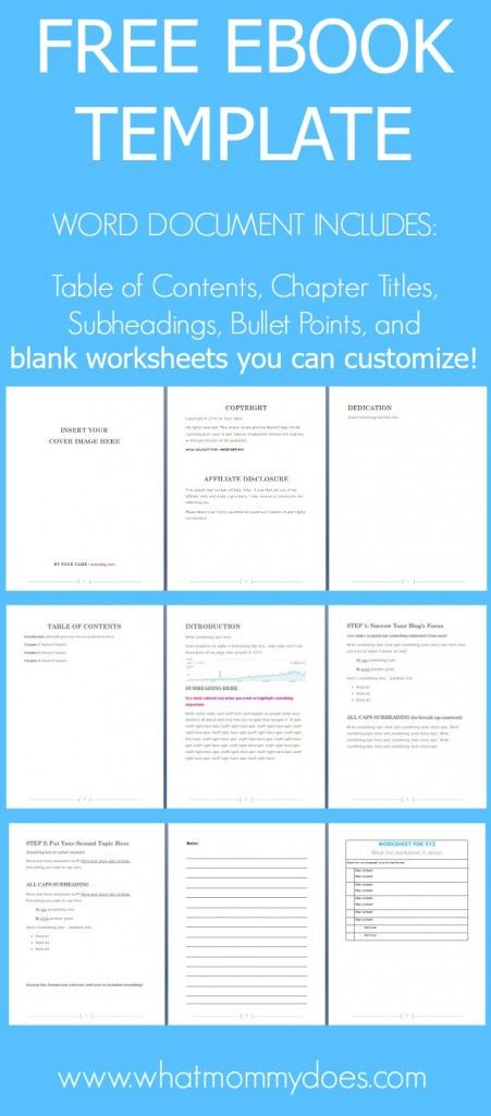 Free Ebook Template - Preformatted Word Document Free, Extra - microsoft word book template free